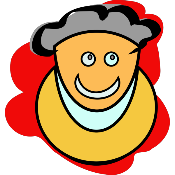 Smiling Cartoon Man PNG Clip art
