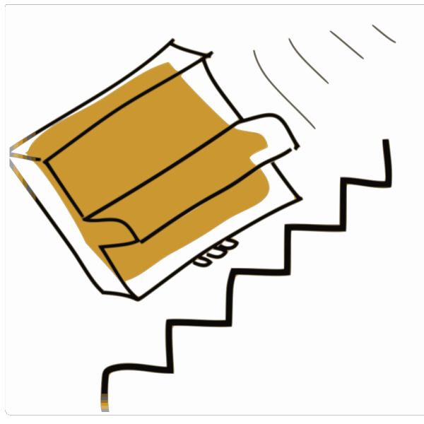 Cartoon Piano Falling Down The Stairs PNG Clip art