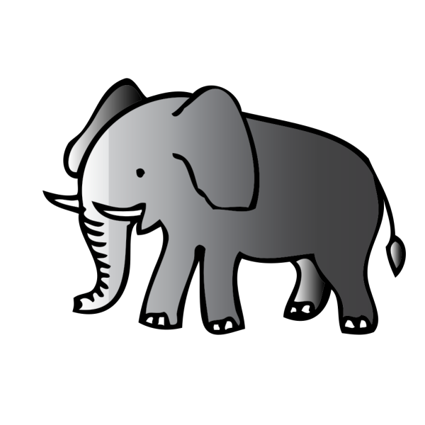 Cute Walking Elephant PNG Clip art