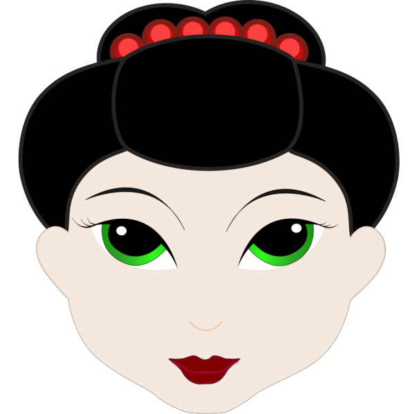 Geisha Girl Anime PNG Clip art