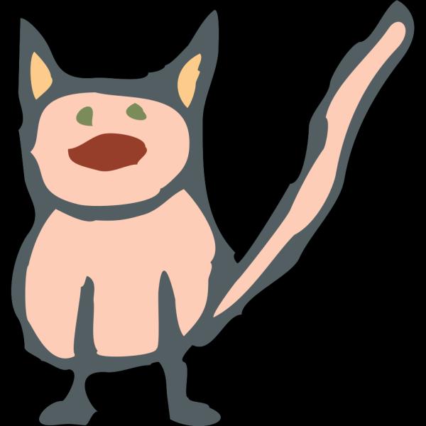 Pink Cartoon Cat PNG Clip art