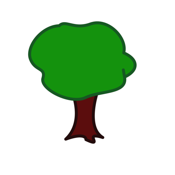 Tree - Rounded PNG Clip art