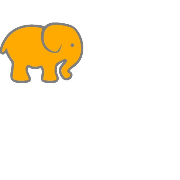 Orange Elephant PNG Clip art