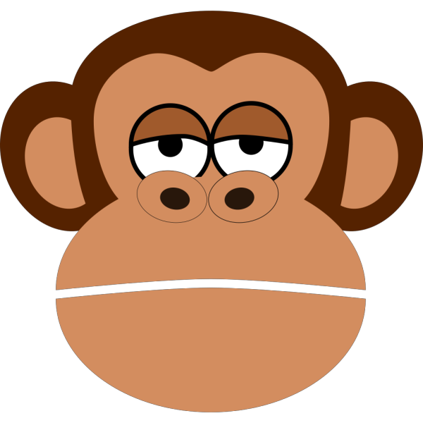 Monkey Cartoon Face PNG clipart