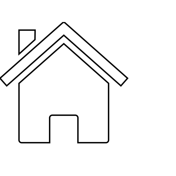 Black And White House PNG Clip art