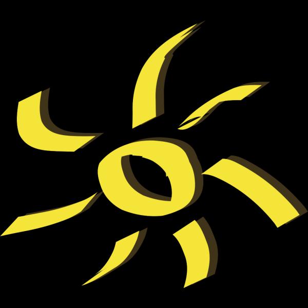 Shining Yellow Sun PNG Clip art