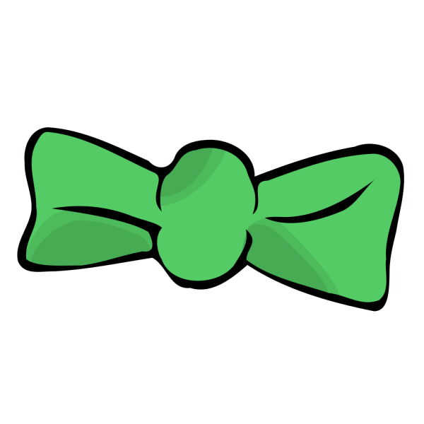 Green Bow Tie PNG Clip art