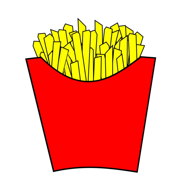 French Fries Modern PNG images