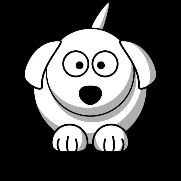 Cartoon Dog Outline PNG Clip art