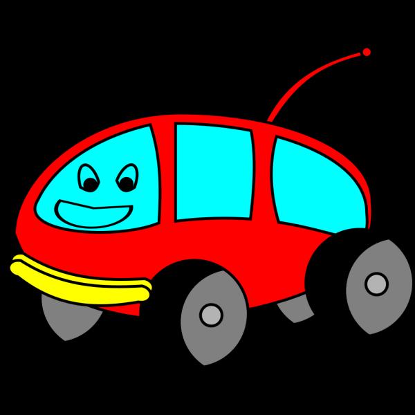 Cartoon Car With A Face PNG Clip art