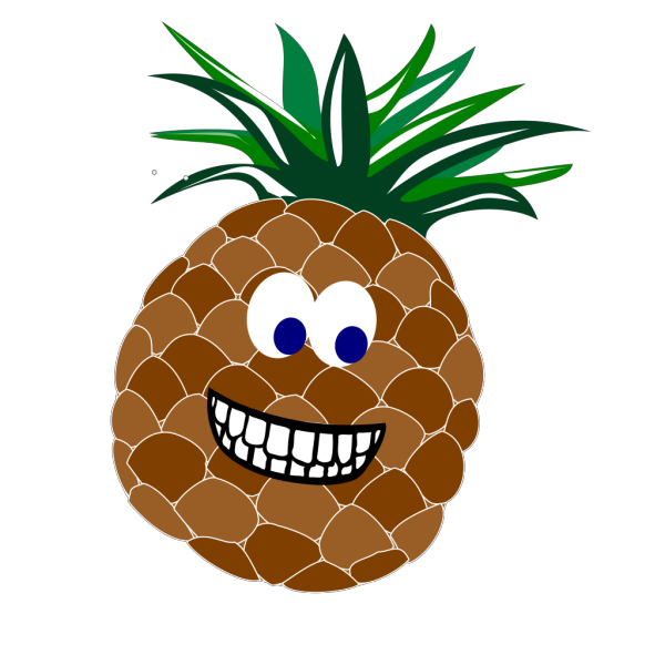 Pineapple With Face PNG images