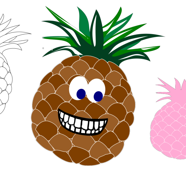 Pineapple Variations  PNG Clip art