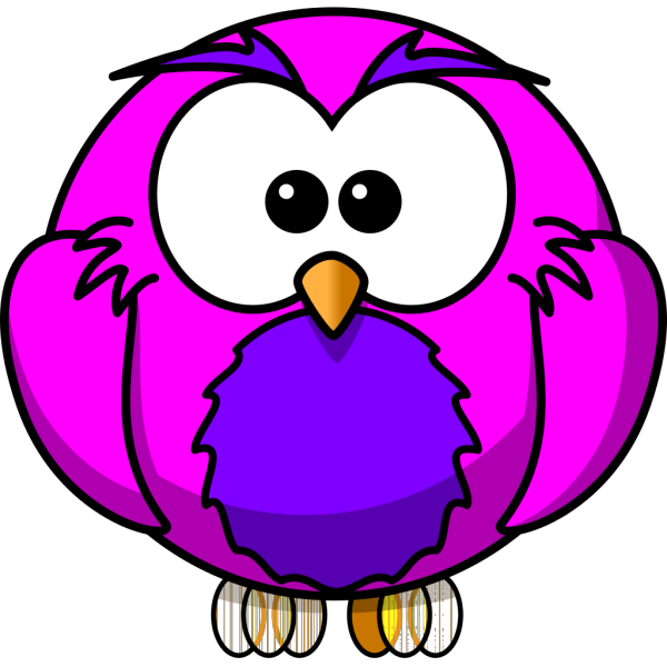 Pink And Purple Hoot PNG Clip art