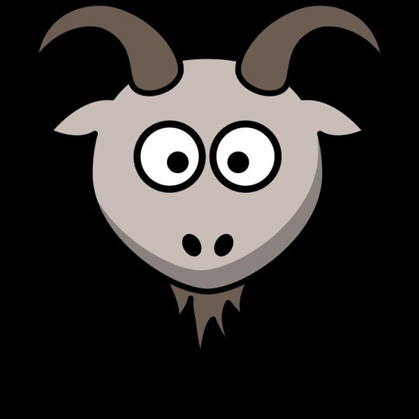 Goat Cartoon Head PNG Clip art