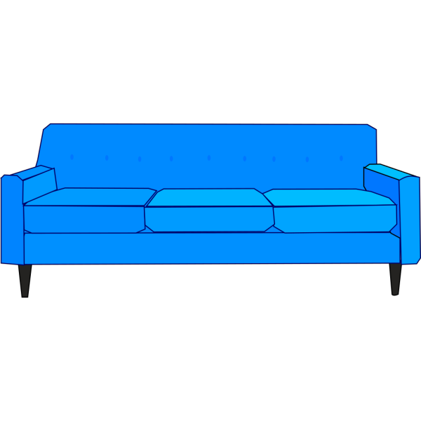 Blue Sofa PNG images