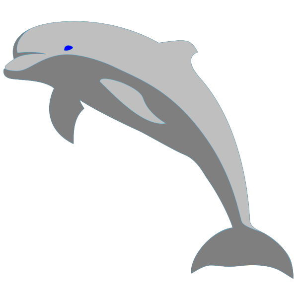 Gray Dolphin PNG Clip art