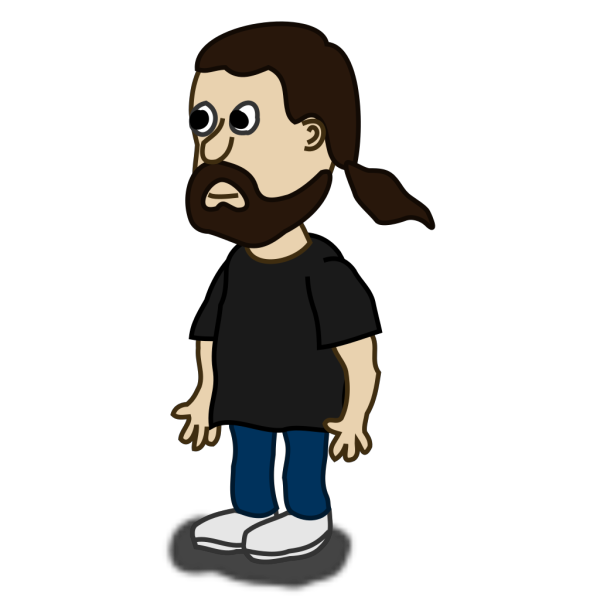Comic Character Bearded Guy PNG Clip art