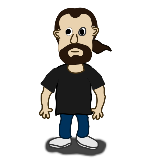 Comic Character Front PNG Clip art