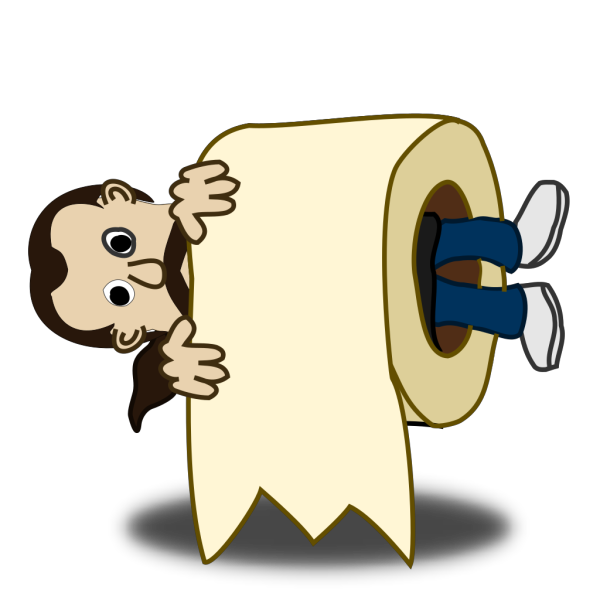 Comic Character Rolled PNG Clip art