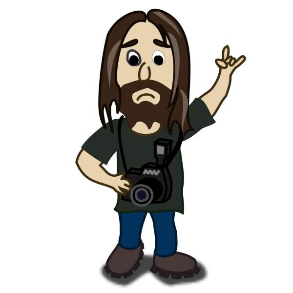 Comic Photographer Character PNG images