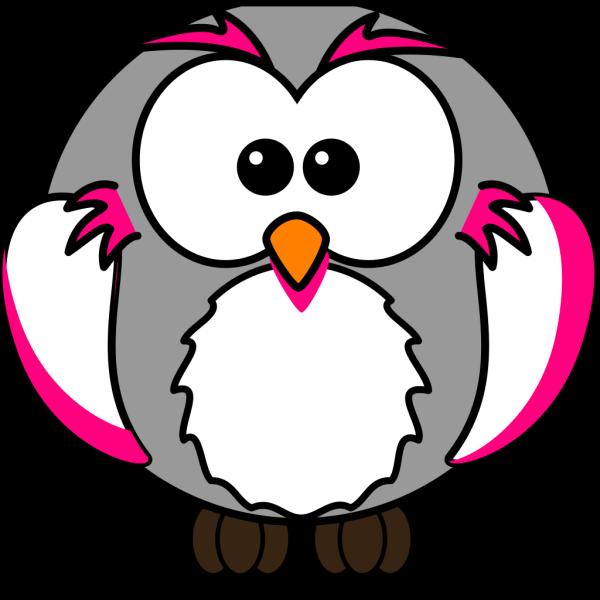 Pink/grey Owl PNG Clip art