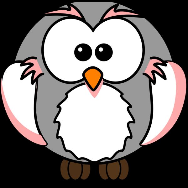 Light Pink/grey Owl PNG Clip art