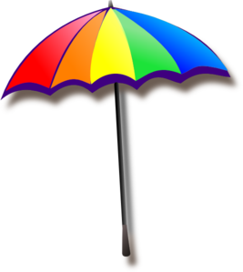 Rainbow Umbrella PNG Clip art