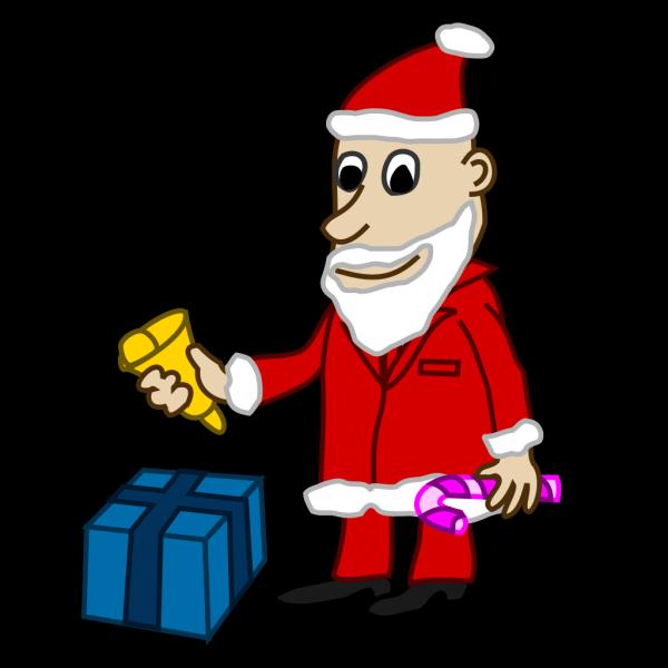 Comic Santa PNG Clip art