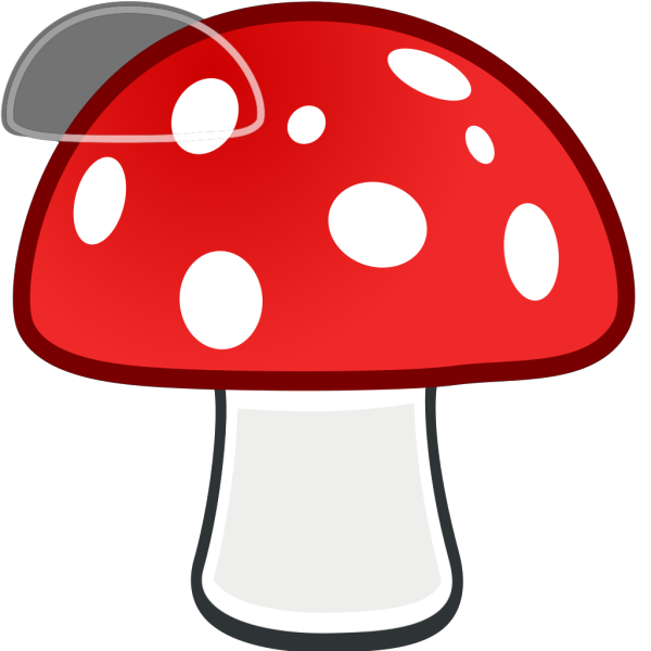 Red And White Mushroom PNG Clip art
