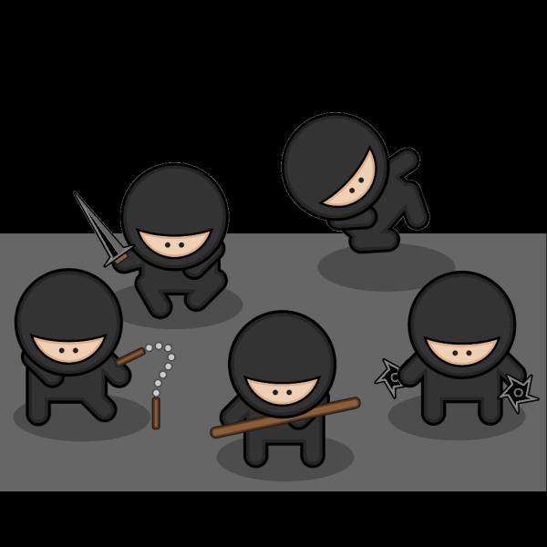 Cartoon Ninjas PNG Clip art