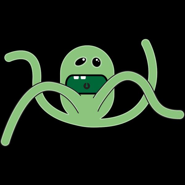 Cartoon Tentacle Monster PNG Clip art