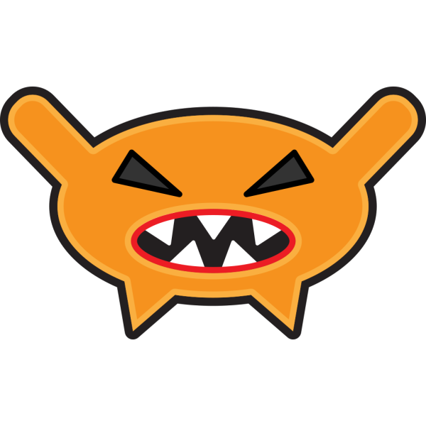 Orange Cartoon Monster PNG clipart