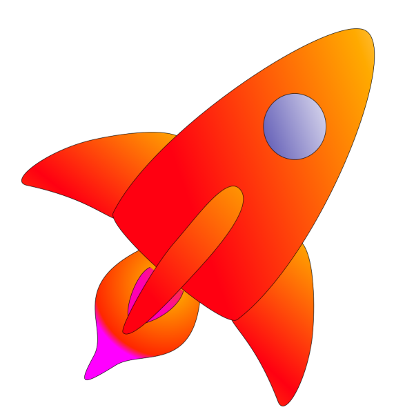 Orange Rocket PNG Clip art