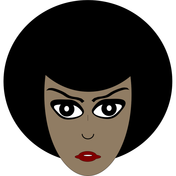 Woman With Afro PNG Clip art
