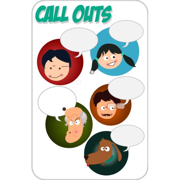 Cartoon Characters With Empty Voice Balloons PNG images