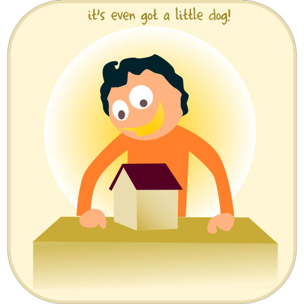 Cartoon Man With A House PNG Clip art