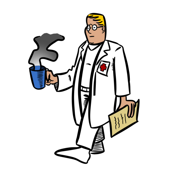 Doctor With A Cup Of Coffee PNG Clip art