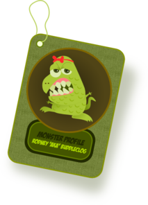 Monster Profile Card PNG Clip art
