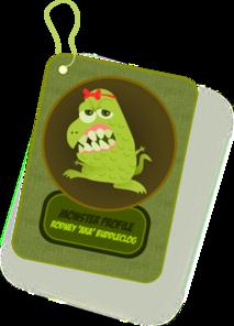 Monster Profile Card PNG Clip art