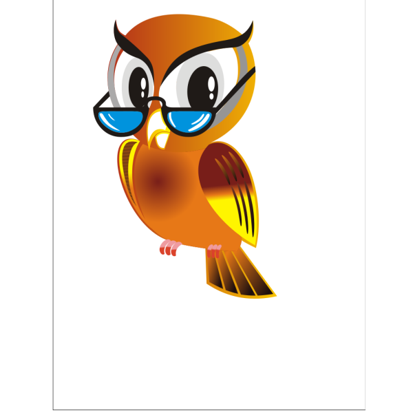 Owl With Glasses No Branch PNG Clip art