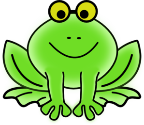 Frog With Glasses PNG clipart