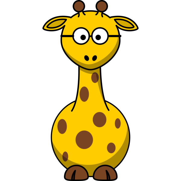 Giraffe With Glasses PNG Clip art