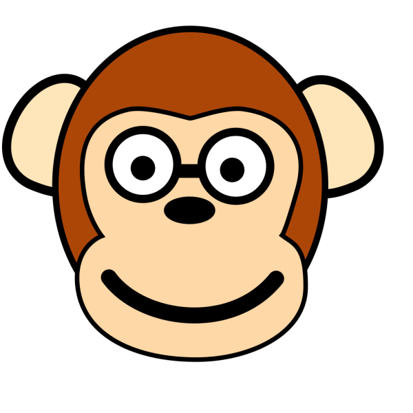 Monkey With Glasses PNG Clip art