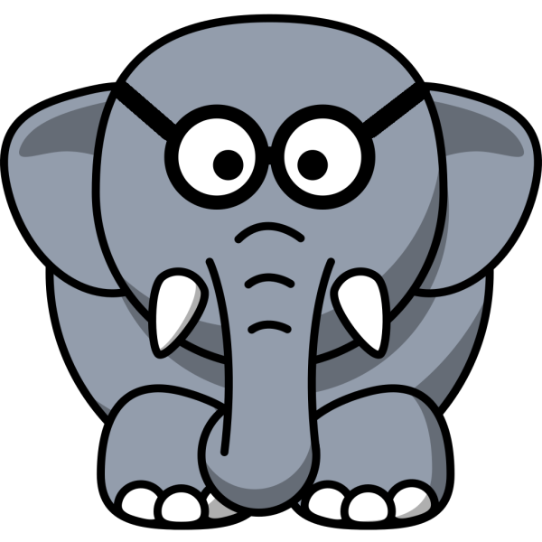 Elephant With Glasses PNG Clip art