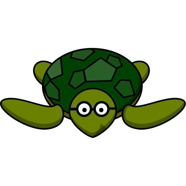 Turtle With Glasses PNG Clip art