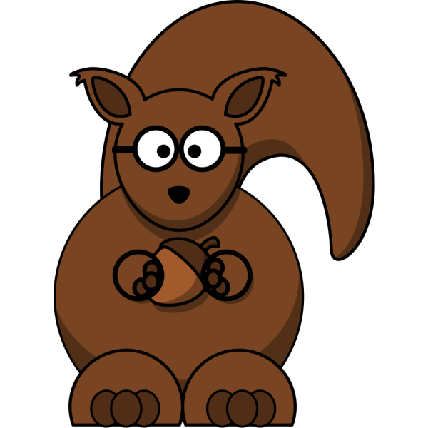 Squirrel With Glasses PNG clipart