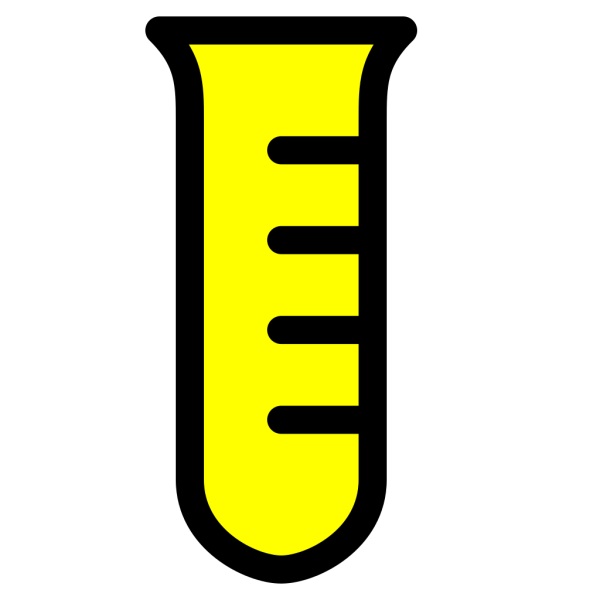 Test Tube -yellow PNG Clip art