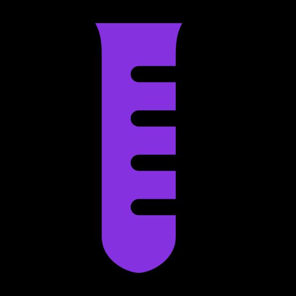 Test Tube -violet PNG Clip art