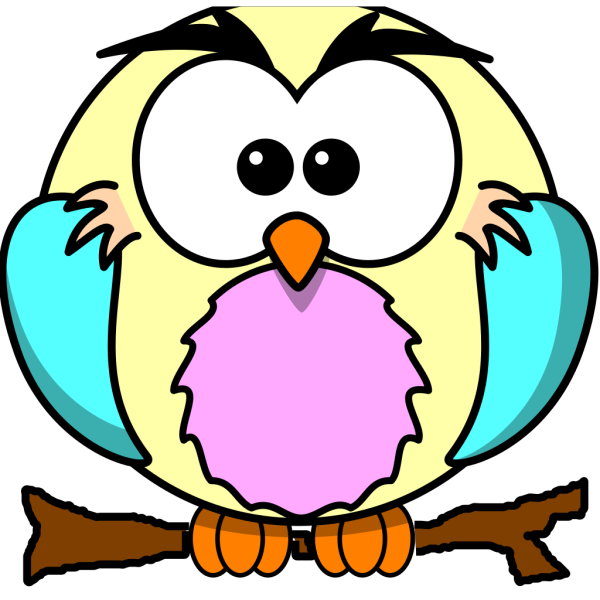 Yellow Owl No Branch PNG Clip art