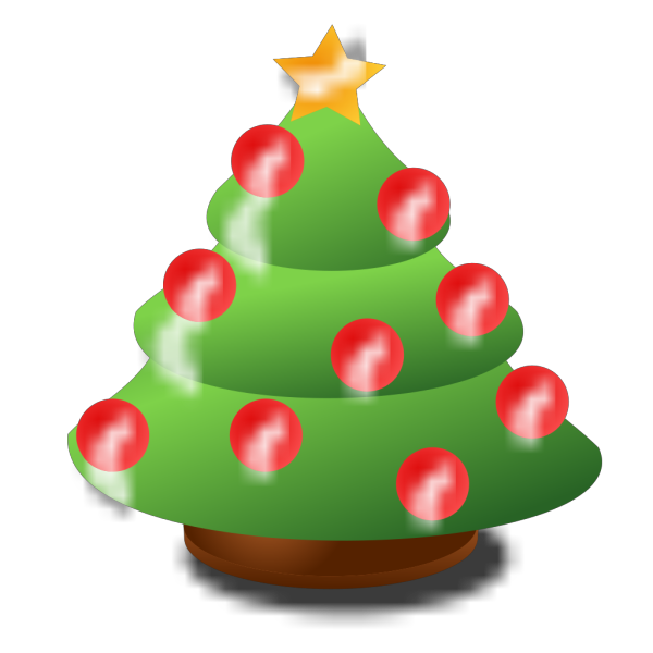 Cartoon Christmas Tree PNG Clip art